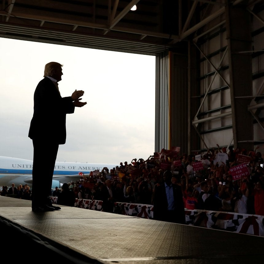 President Trump Held a Re-Election Rally After Just a Month on the Job