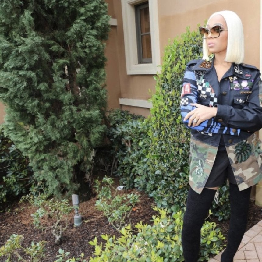 Monica Brown Debuts New Platinum-Blonde Bob