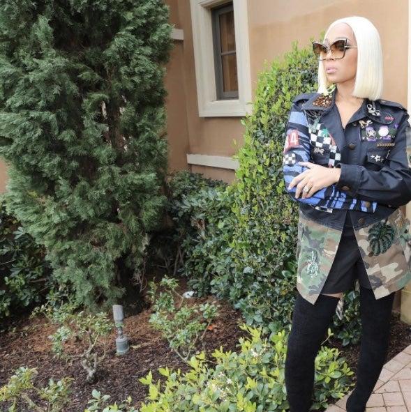 Monica Brown Debuts NewPlatinum-Blonde Bob