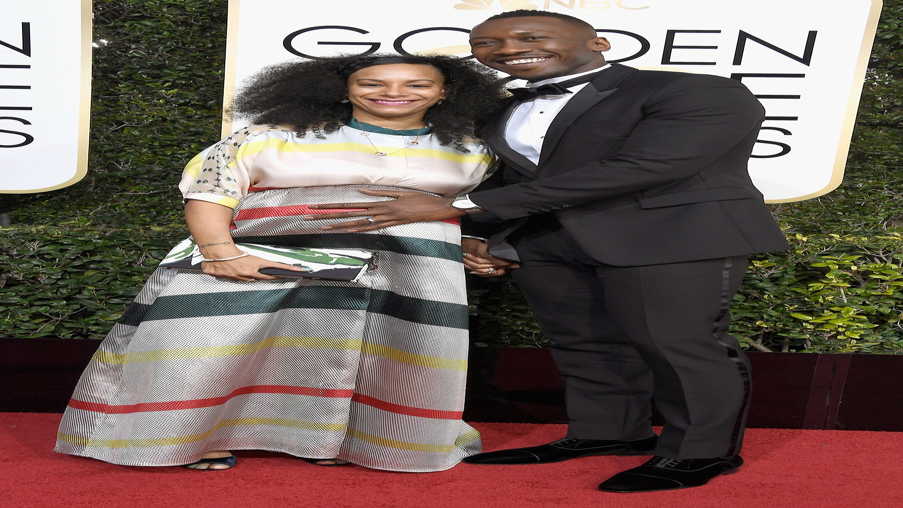 Mahershala Ali Praises Pregnant Wife for Being a 'Soldier' During Grueling Awards Season
