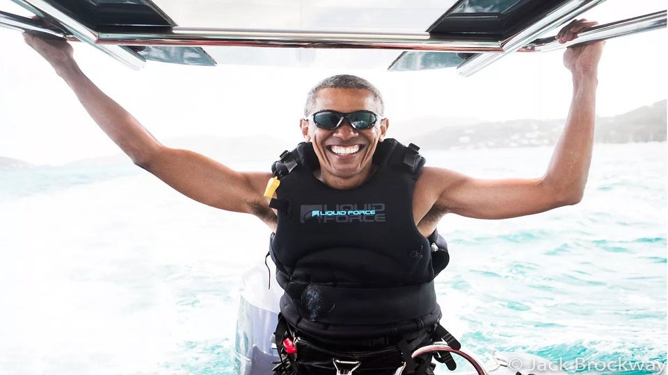 Barack Obama Went from the White House to Whitecaps on Billionaire Richard Branson's Private Island