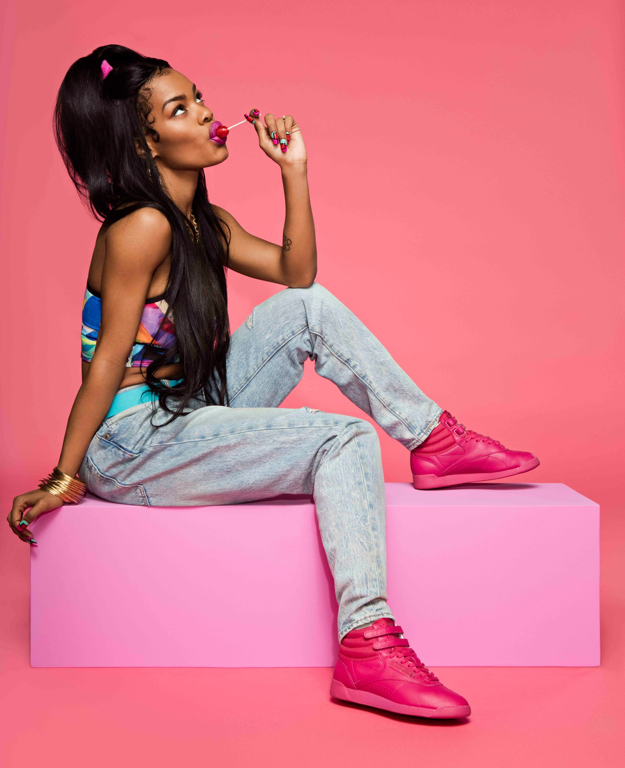 "b5851e63ca332 Teyana Taylor x Reebok s New ""Free Your Style"" Sneakers Are the Kicks You  Need"