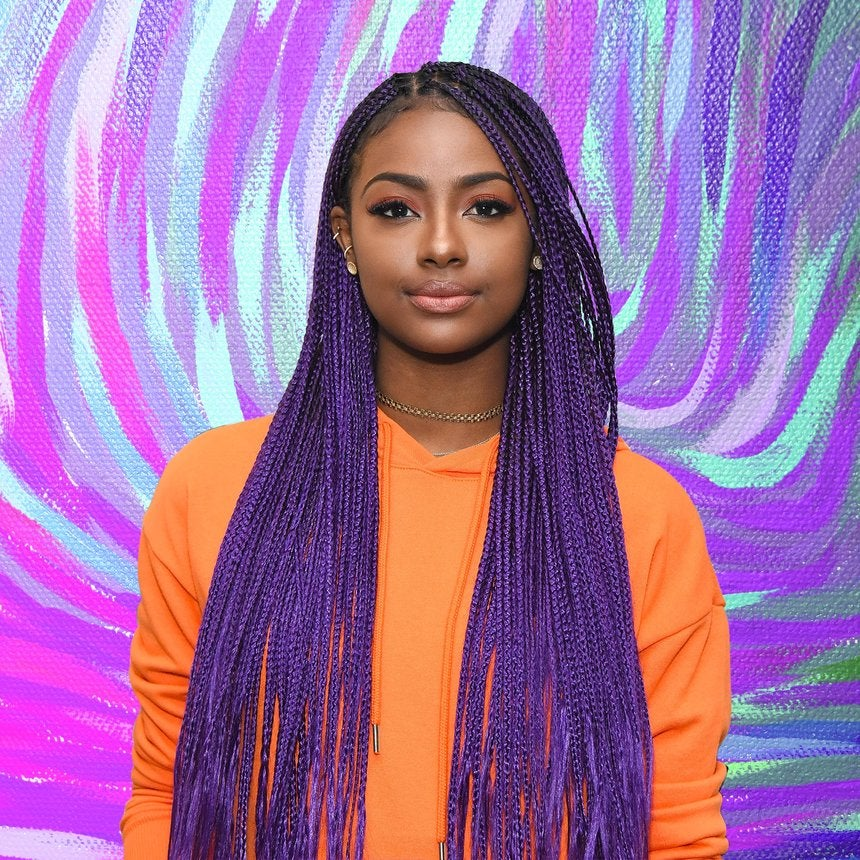 Justine Skye's Best Purple Hair Moments