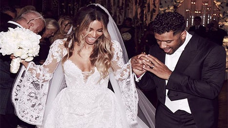 Happy First Wedding Anniversary Ciara And Russell Wilson!
