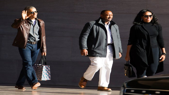 We're Obsessed with Michelle Obama's Edgy Yet Functional Black Tote