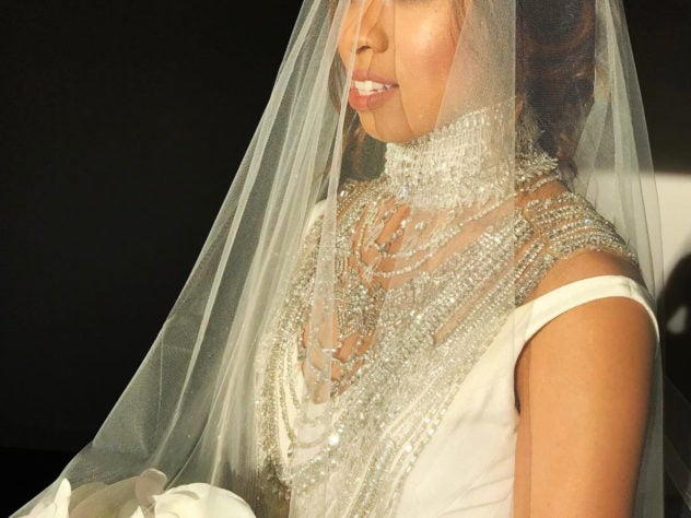 Black Wedding Moment Of The Day: We're Obsessed With This Bride's Crystal Necklace