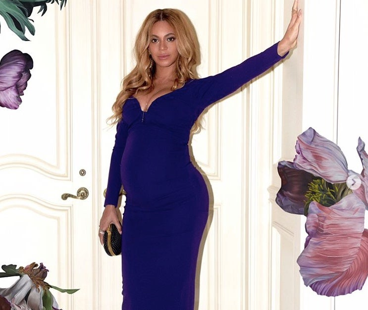 Beyonce Is A Psychedelic Purple Delight In New Pregnancy Photos