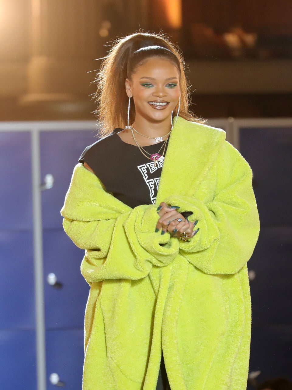 This Video Of Rihanna Turning Up In Front Of Her Grandpa Is Hilarious