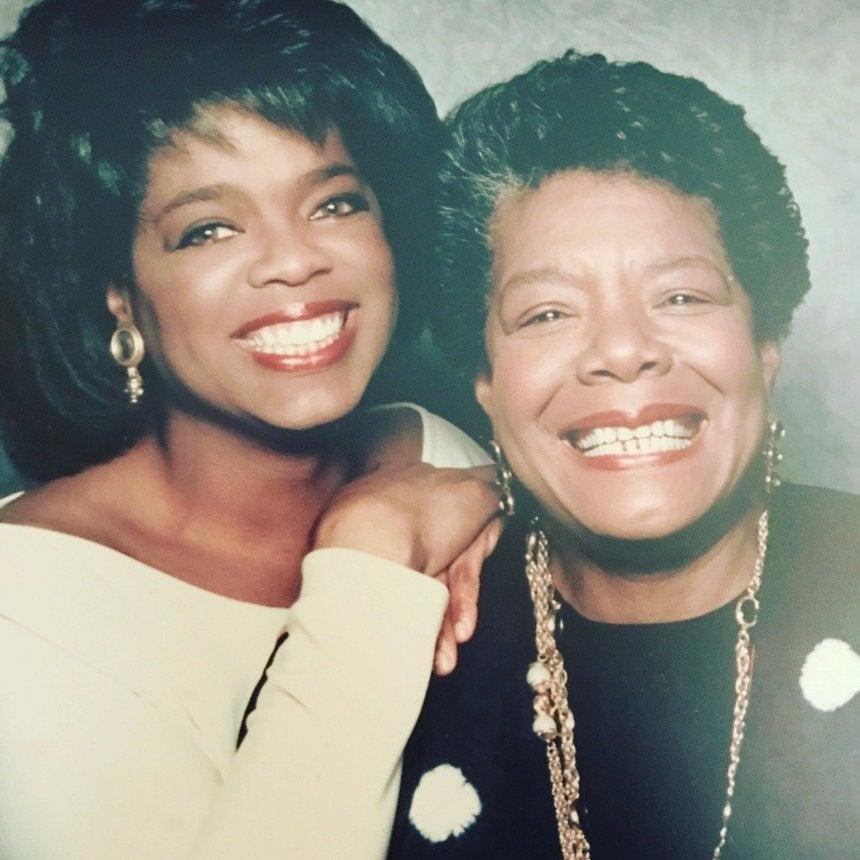 Oprah WinfreySendsMaya Angelou Birthday Love With Epic Throwback Photo