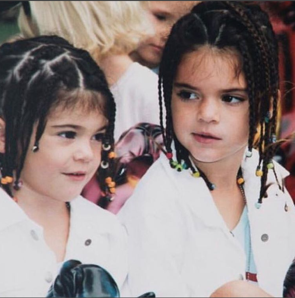 Kendall Jenner Posts TBT Photo Of Herself And Kylie In Beaded Braids Amid Pepsi Ad Controversy