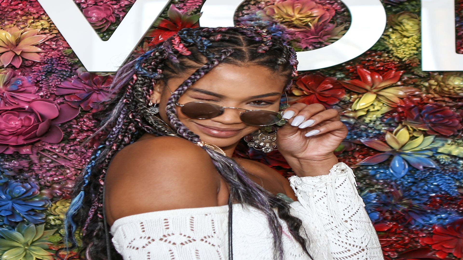 Prepare To Be Obsessed With Chanel Iman's Rainbow Braids