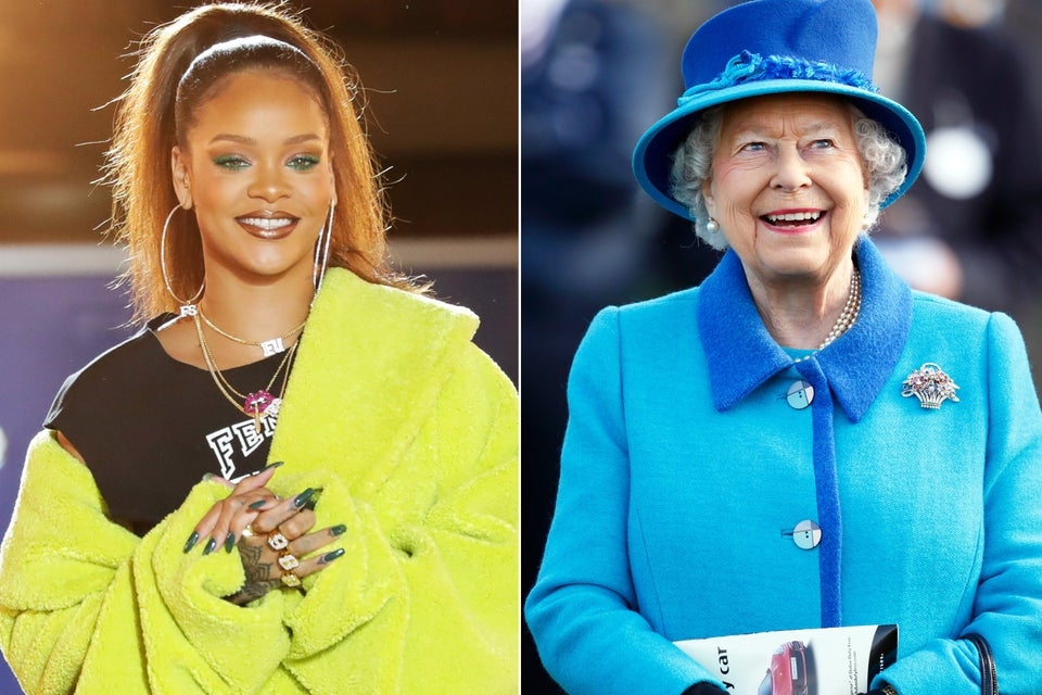 Rihanna Is Photoshopping Queen Elizabeth's Head Onto Her Body And The Internet Doesn't Know What To Think