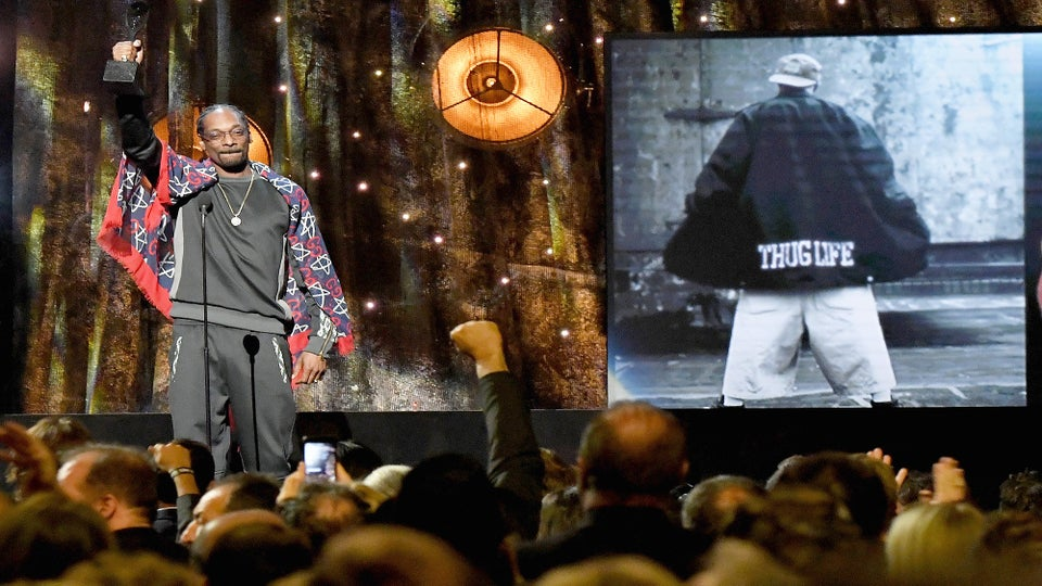 Snoop Dogg Pays Emotional Tribute to Tupac at Rock and Roll Hall of Fame: 'You Will Always Be the Best'