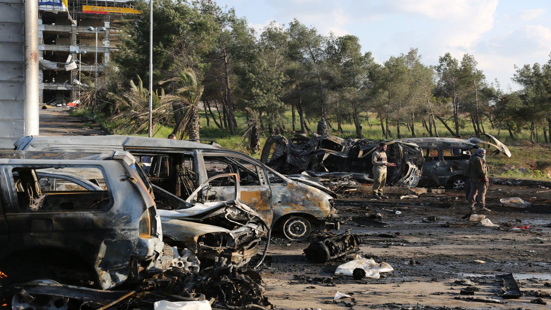 Mass Evacuations In Syria Continue Despite Deadly Blast