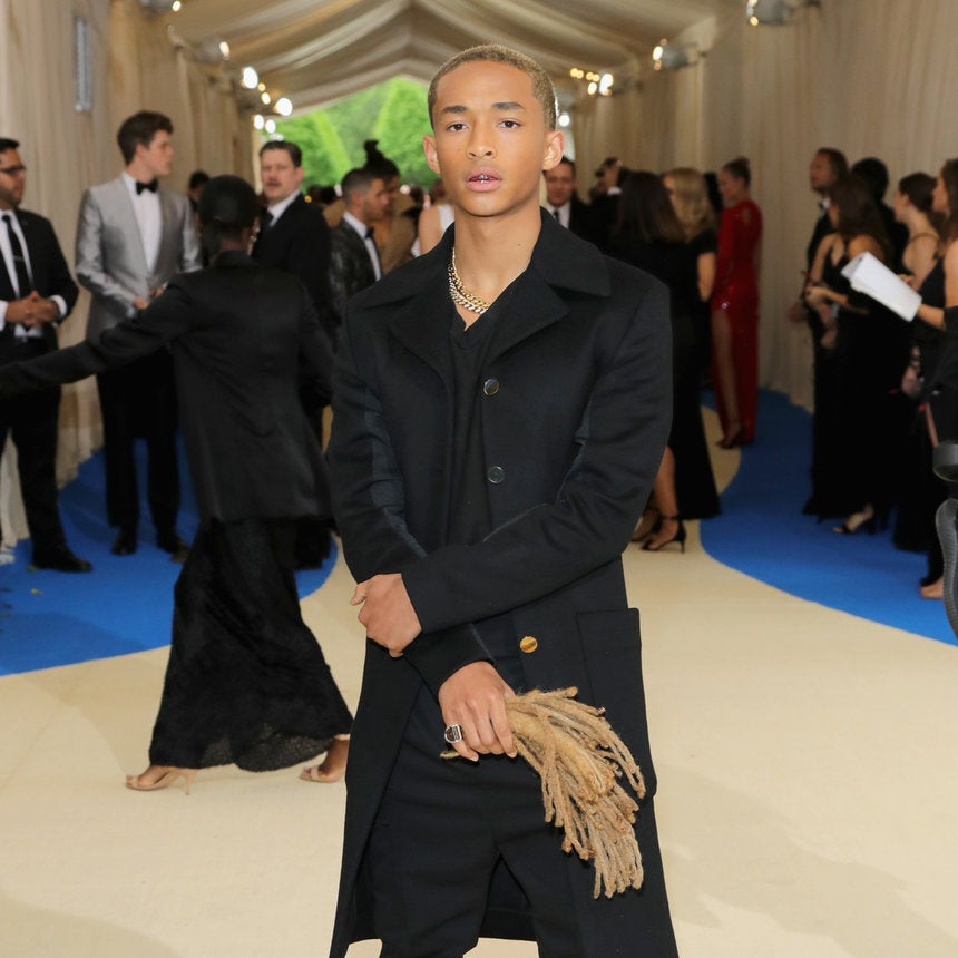 Jaden Smith Attends The 2017 Met Gala With Detached Locs In Hand