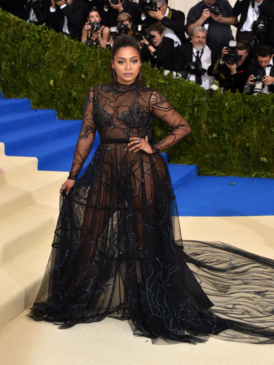 La La Sends Not-So-Subtle Message Of Strength At Met Gala