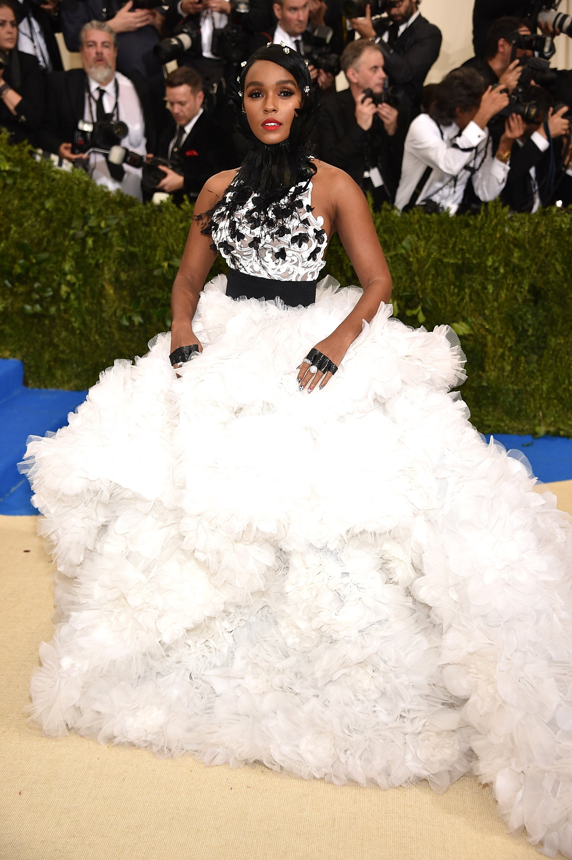Janelle Monáe's Bejeweled Pixie Wins The 2017 Met Gala Red Carpet