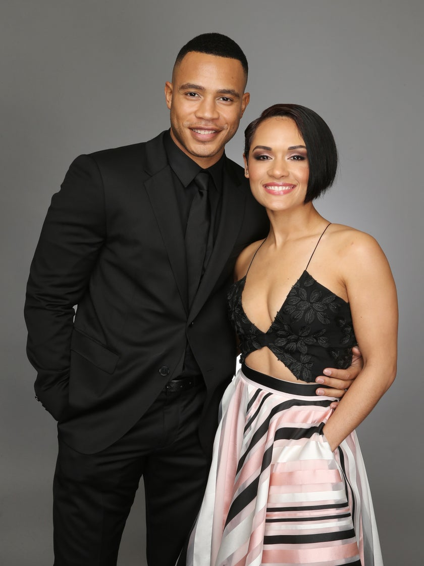 This Video Of 'Empire' Star Grace Gealey Schooling Hubby Trai Byers In A Game Of Spades Is All Of Us
