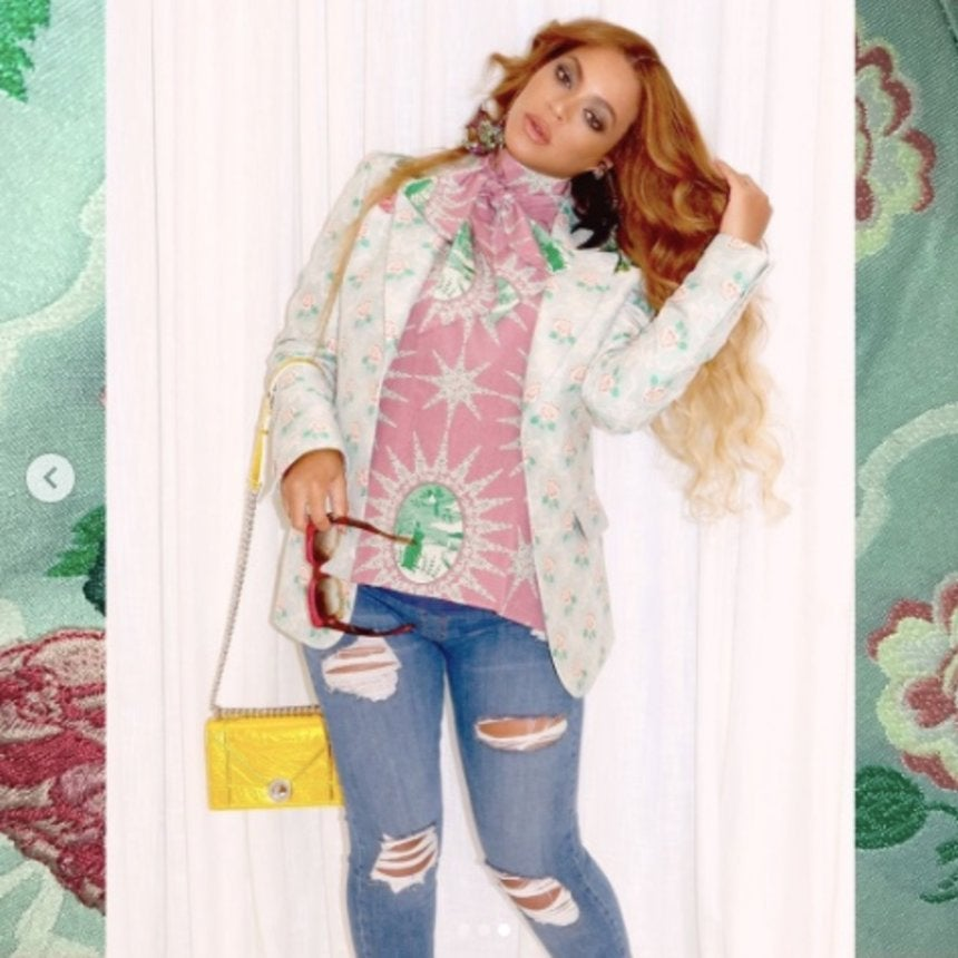 Beyonce Instagrams New Pregnancy Style Flicks