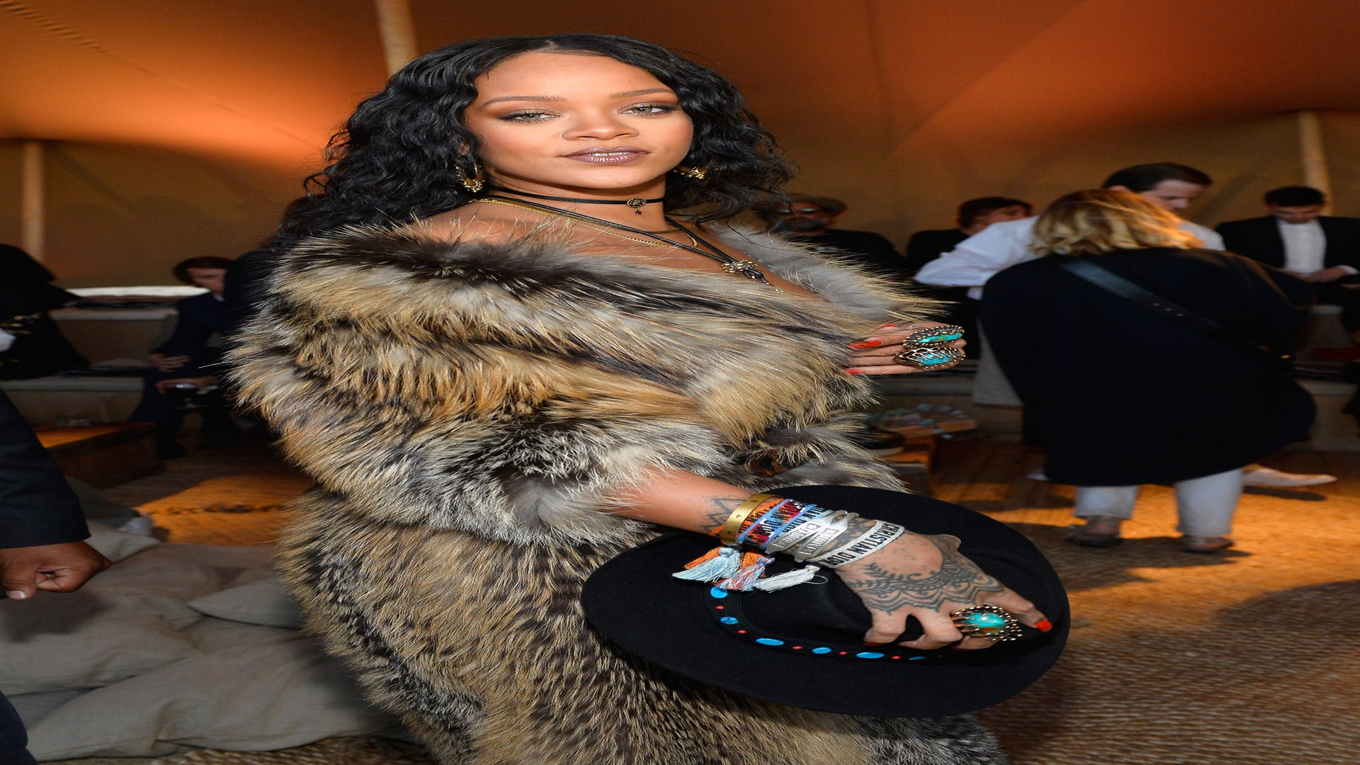 Rihanna Goes Full-On Cowgirl at the Dior Cruise Show