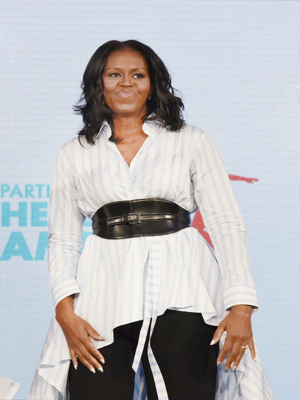 Michelle Obama Steps Out in a Killer Corset Belt and We're So Here for It