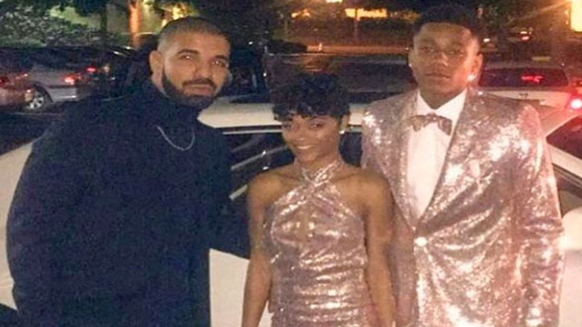 Drake Chose a Spiffy Turtleneck to Chaperone His Cousin Jalaah Moore and Her Date at Prom