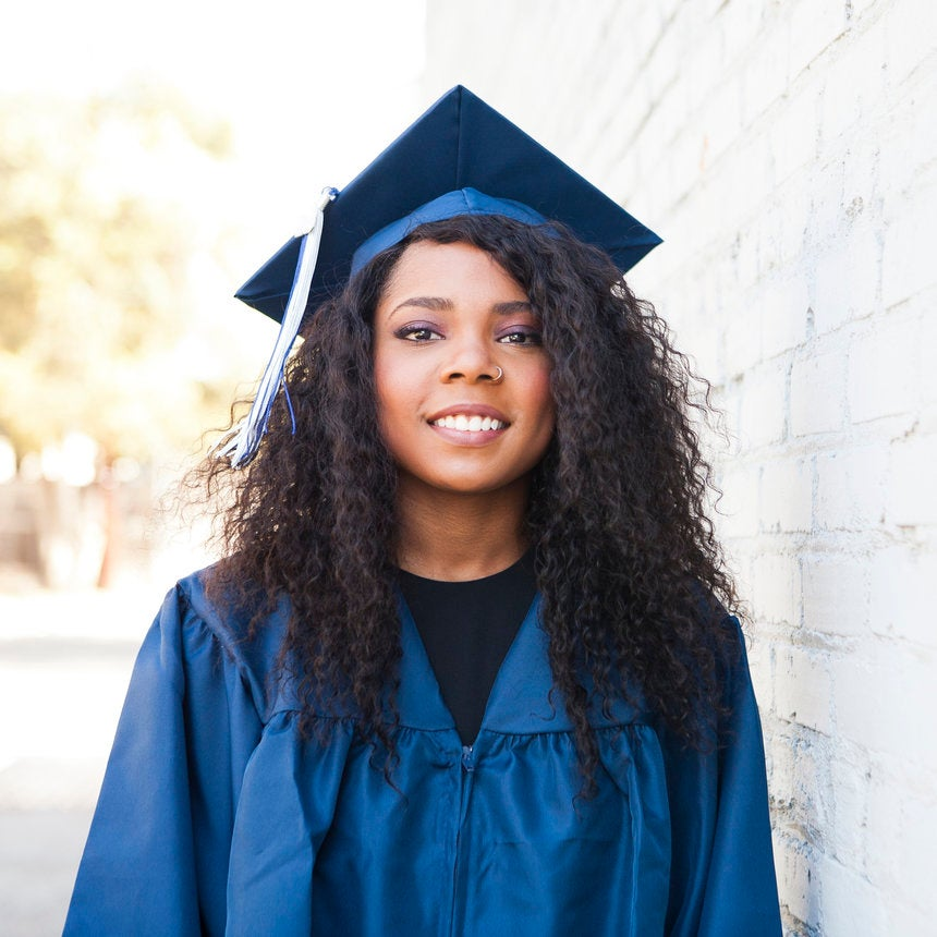 How To Style Your Natural Hair Under a Graduation Cap
