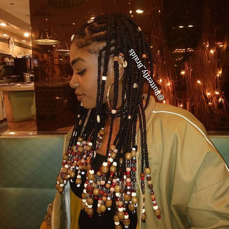 Celebrity Style Beads: Braids With Beads Inspiration