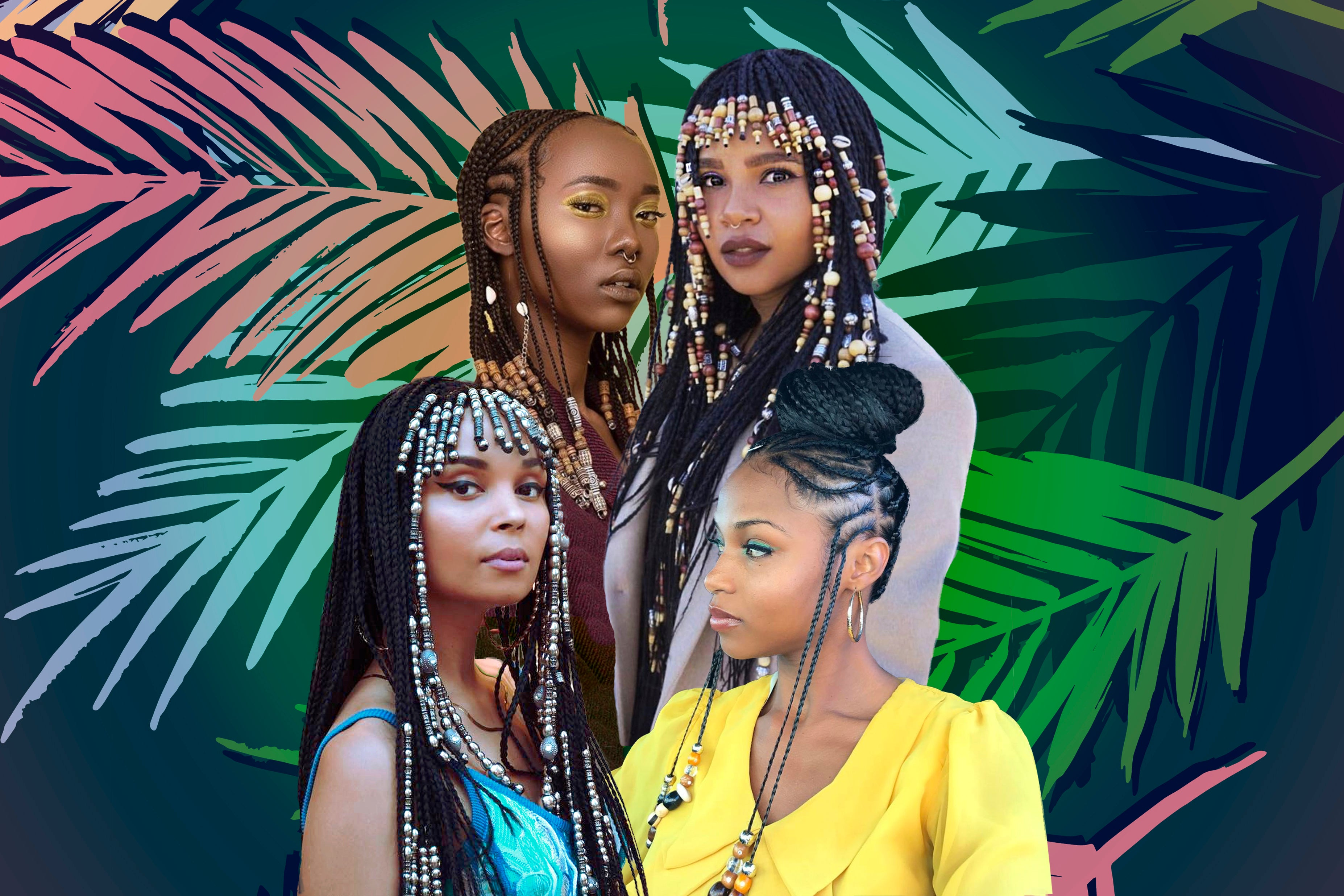 Straight Back With Beads: Braids With Beads Inspiration