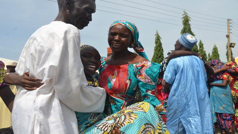 Released Chibok Schoolgirls Reunite With Families