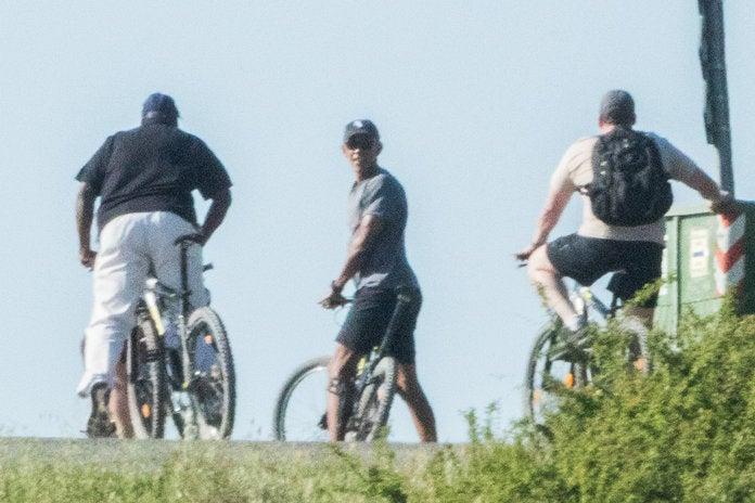 Barack Obama Gives Off Major Dad Vibes While Biking Through Tuscany