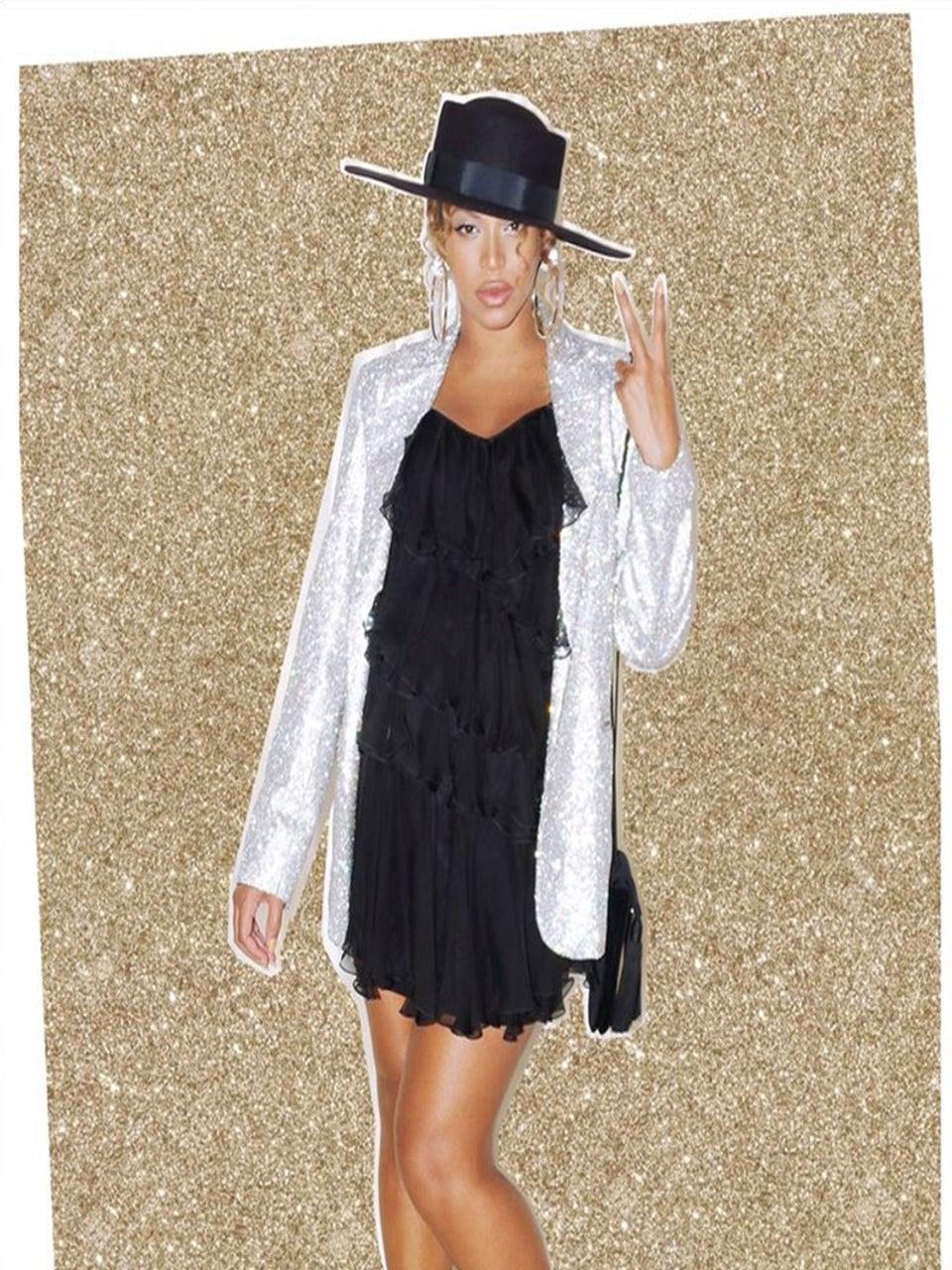 Pregnant Beyoncé Channels Michael Jackson in $4,950 Rhinestone Jacket at Jessica Alba's Birthday Party