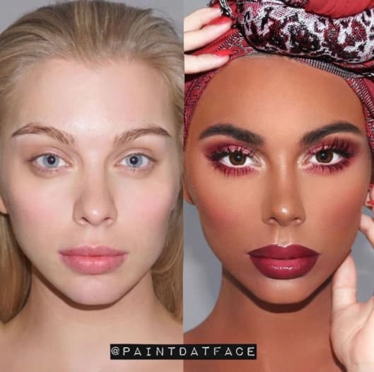 The Internet Quickly Checks This Makeup Artist For Disguising Blackface As 'Transformation'