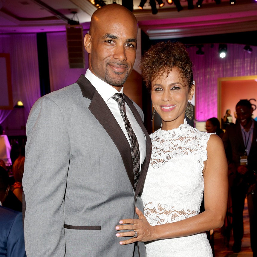 Boris Kodjoe And Nicole Ari Parker Get Steamy On Set in Atlanta
