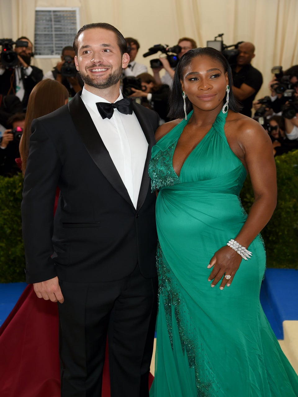 Serena Williams, Her Baby Bump And Fiancé Alexis Ohanian Bring Love To The Met Gala Red Carpet