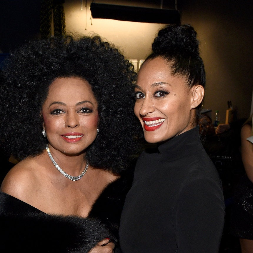 Tracee Ellis Ross Shares Adorable TBT Of Set Life With Mom Diana Ross -- Including Her Amazing Wardrobe