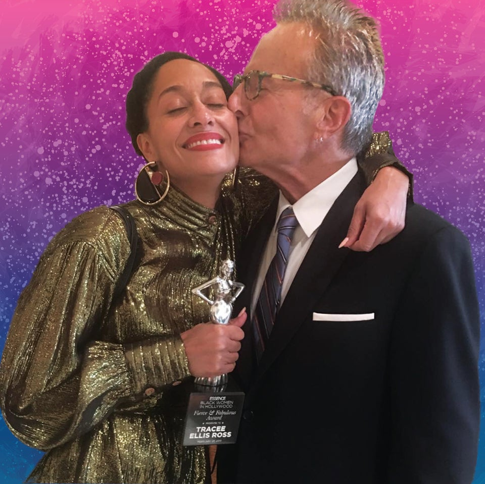 Tracee Ellis Ross and her dad
