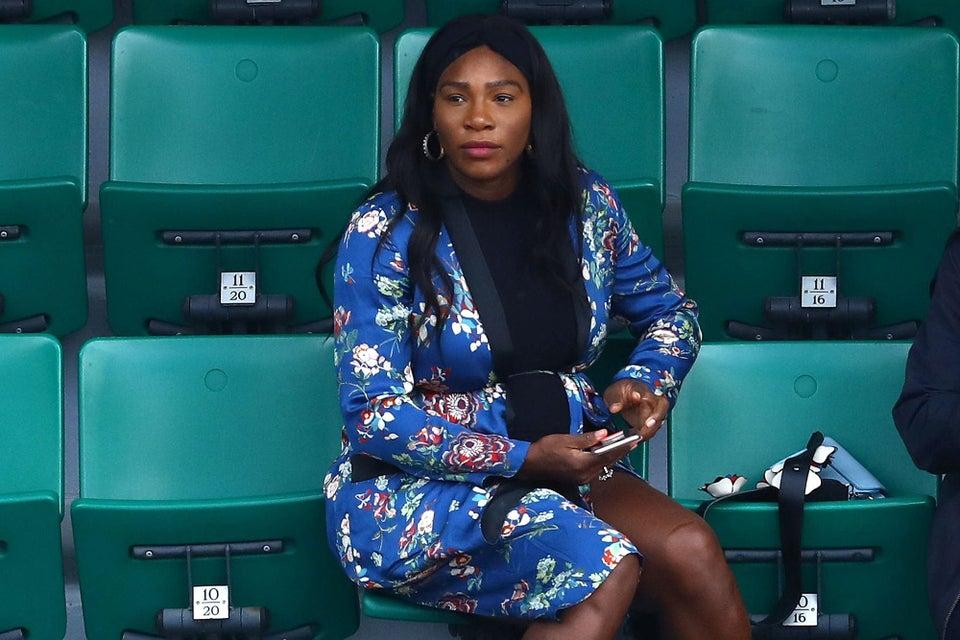 Pregnant Serena Williams Cheers Sister Venus to Victory in $149 Zara Floral Kimono at French Open