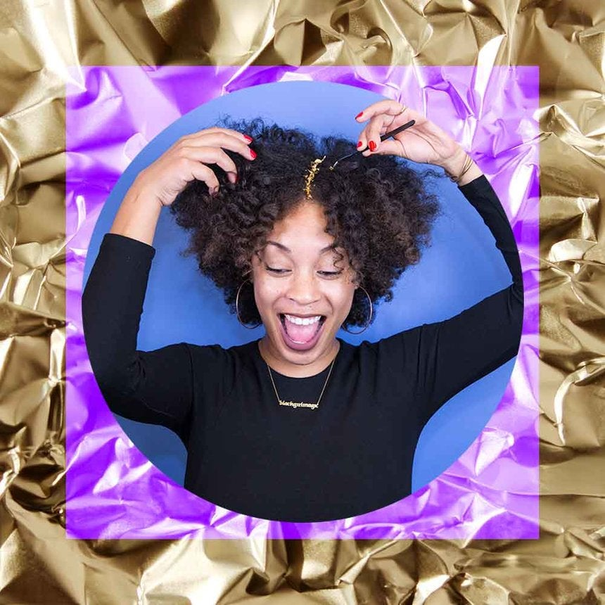 How to Rock Gold Leaf In Your Hair Without Going Overboard