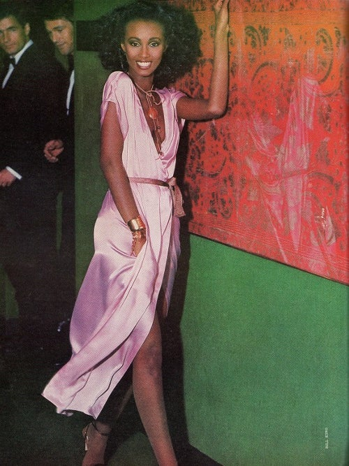 Throwback Style: Iman's Sultry Wrap Dress is the Summer Go-To You'll Want to Invest In