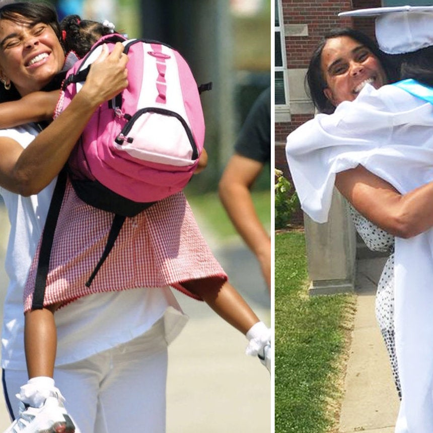 The Internet Can't Get Over The Mother-Daughter Duo Who Recreated This Kindergarten Photo