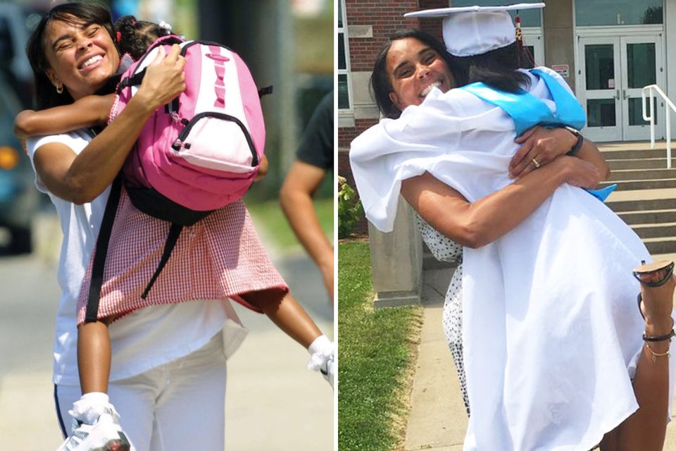 This Mother-Daughter Duo Recreated Their Photo From Kindergarten After High School Graduation