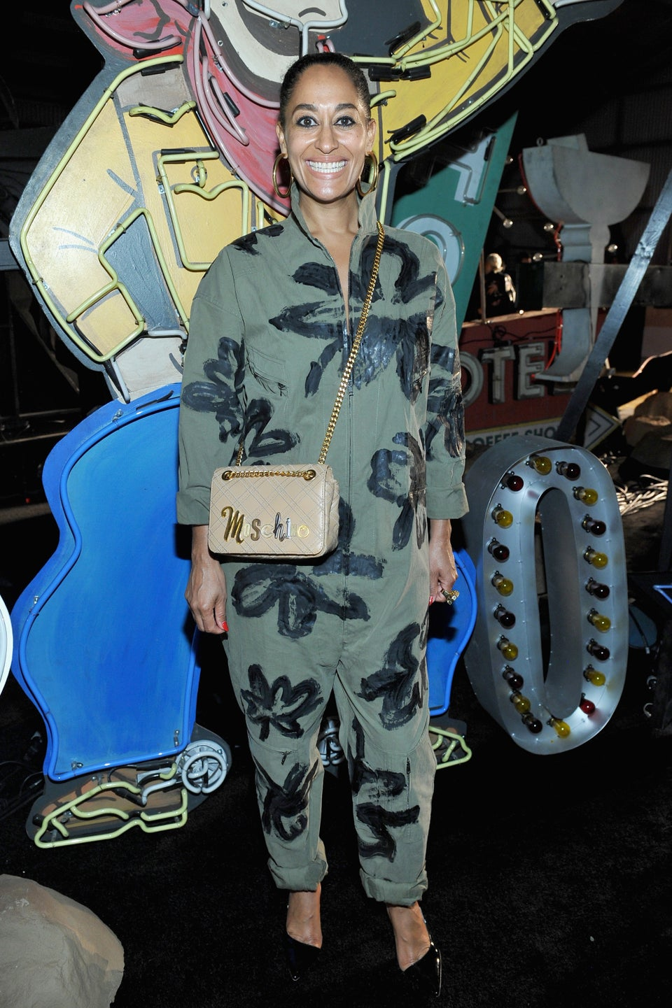 Tracee Ellis Ross Gets the Utility Jumpsuit Right at Moschino Runway Show