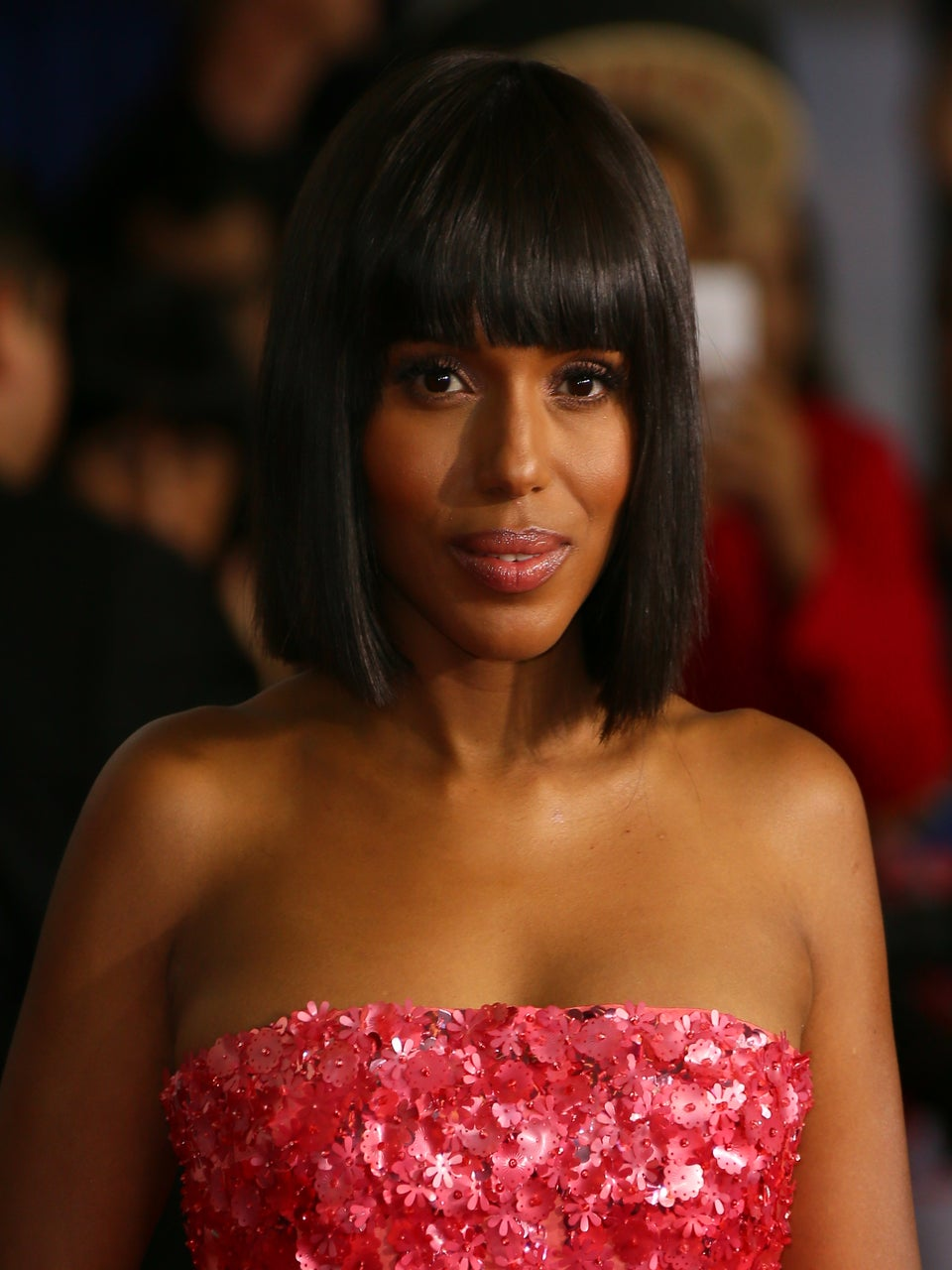 Kerry Washington Looked So Ready for Summer in a Melon Pink Midi-Dress