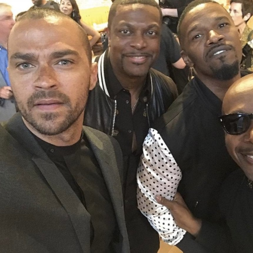 Jesse Williams Teases Project With MC Hammer, Chris Tucker And Jamie Foxx
