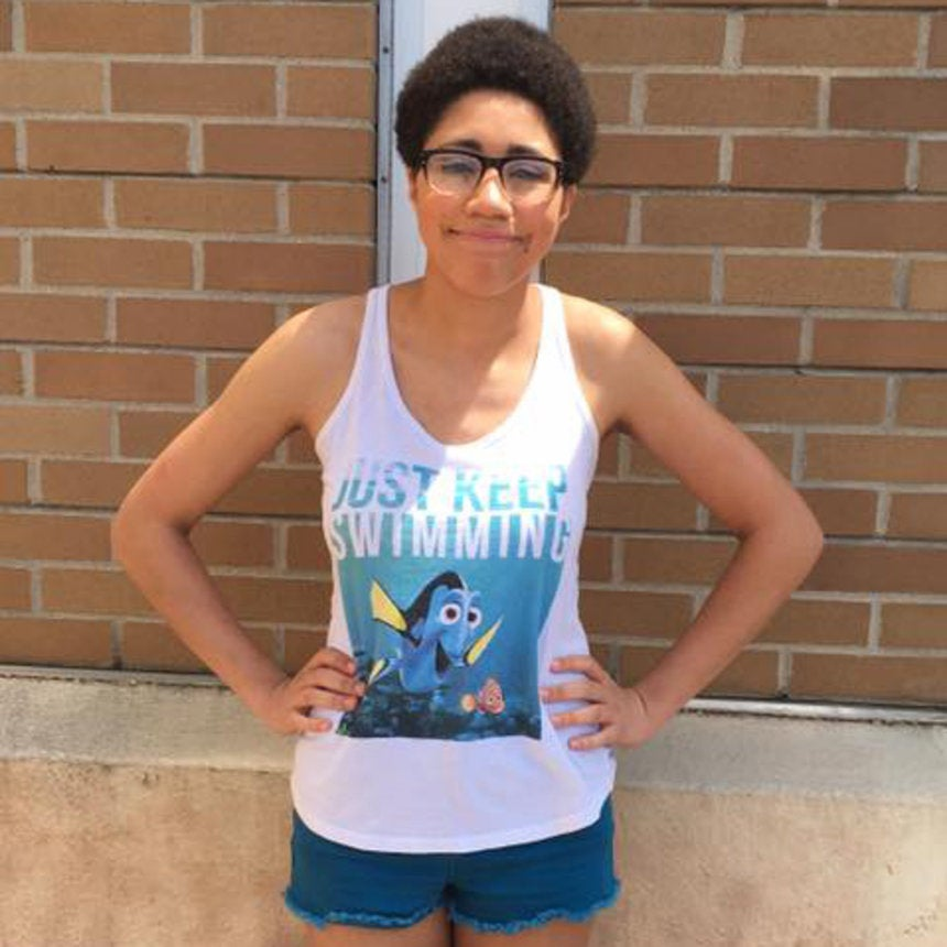This College Student Says She Was Kicked Out of a Mall for Wearing a Finding Nemo Tank Top and Cutoffs
