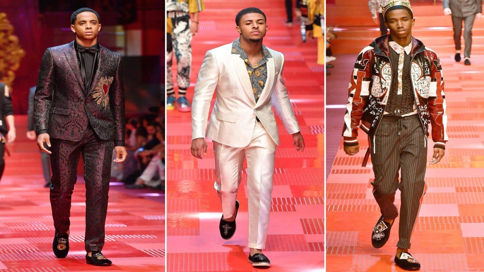 Christian Combs, Cordell Broadus & Diggy Simmons Walk in Dolce & Gabbana Spring 2018 Show