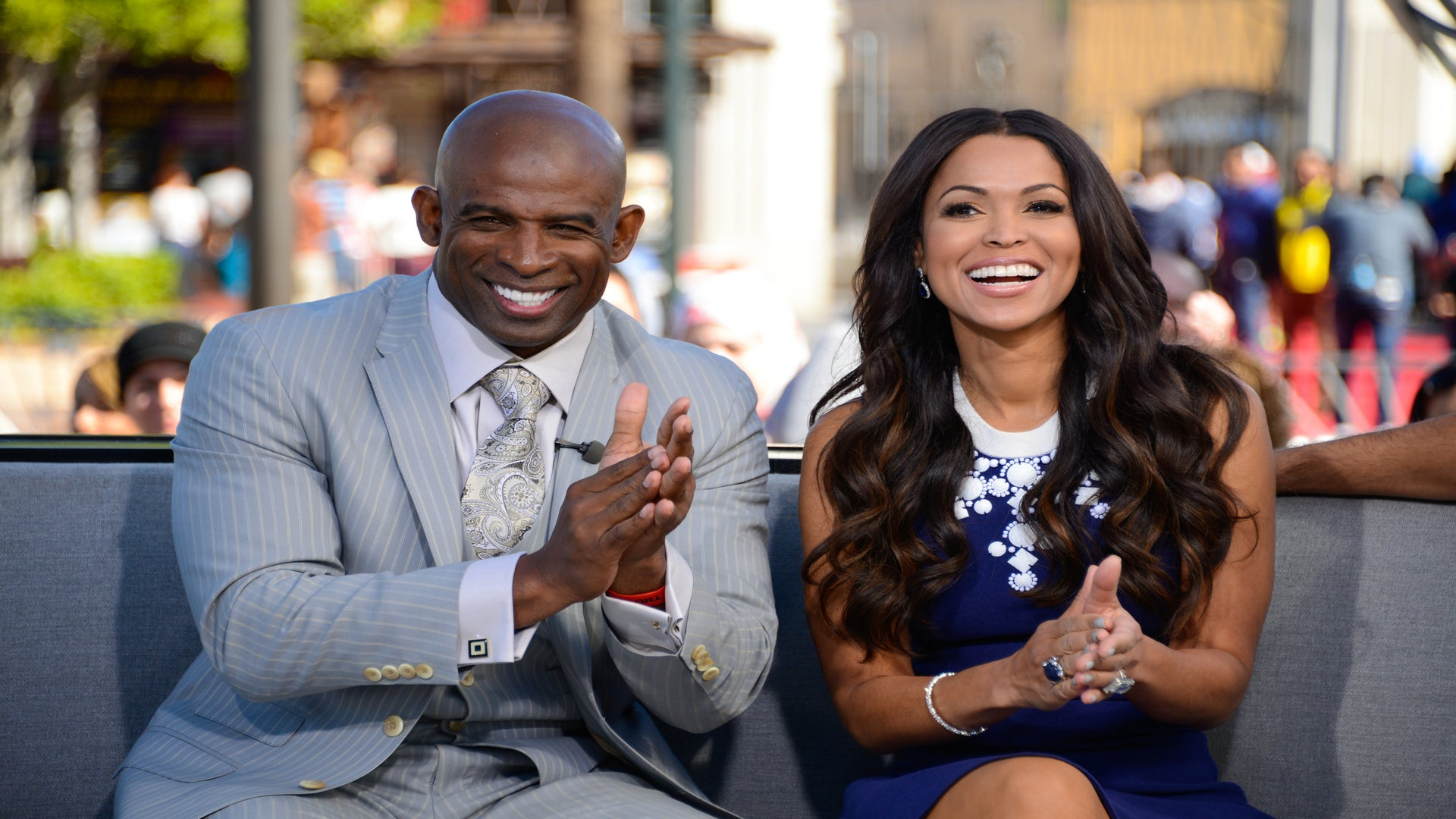 Tracey Edmonds Took On Boyfriend Deion Sanders' Lawn-Mowing Duties For Father's Day