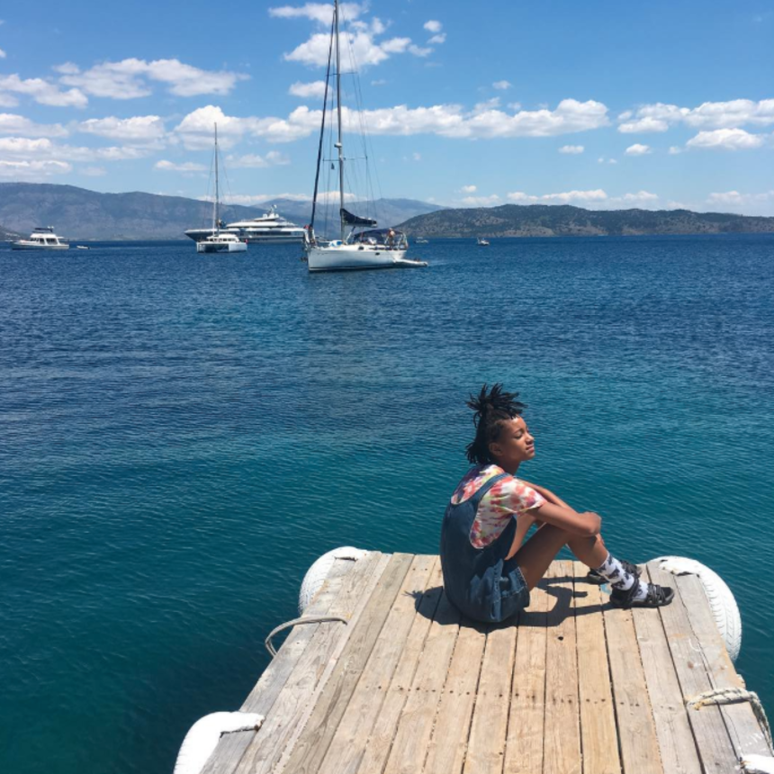 Willow Smith Greece Vacation Essence