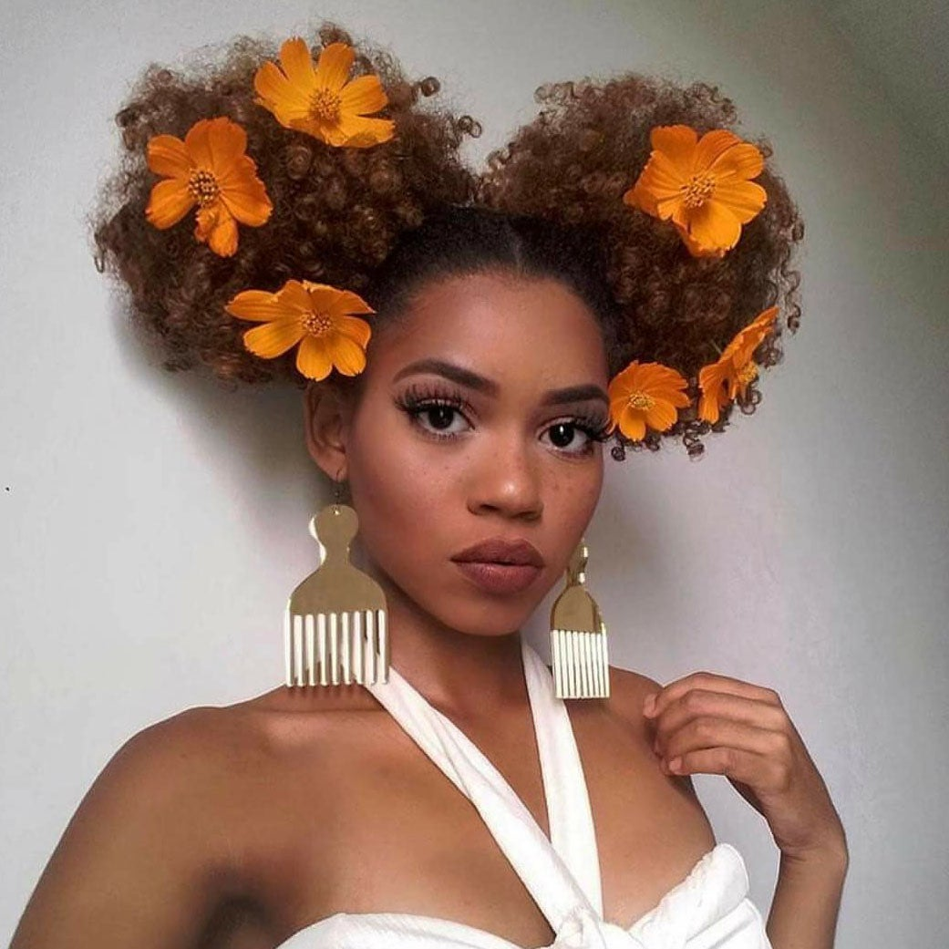 Flowers in natural hair inspiration essence 1 of 15 amournaiinstagram izmirmasajfo